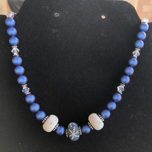 New Blue Swarovski Necklace